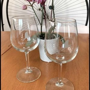 DOUBLE WALL TUMBLER WINE GLASS PREPPY STRIPE beach